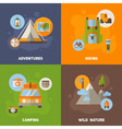 Advertisement set of concept banners vector image vector image