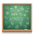 Green School Chalk Board vector image vector image