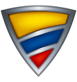 steel shield with flag colombia vector image