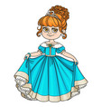 beautiful little princess curtsies isolated on vector image