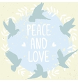 doves peace and love vector image