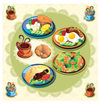 food items vector image