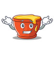 grinning honey character cartoon style vector image