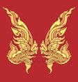 Twin king snake head vector image