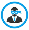 Masked Thief Rounded Icon vector image