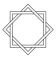 Interlocking square and diamond tattoo vector image