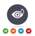 Eye with water drop sign Drip into the eyes vector image