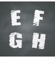 Chalkboard Alphabet vector image