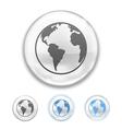 Globe Button vector image