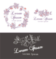FLOWERS DESIGN ELEMENTS SUCH AS LOGO vector image vector image