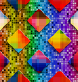 Rainbow colored rectangles on rainbow colored vector image