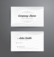 Business card template modern abstract vector image