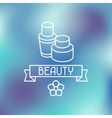 Spa beauty label on blurred background vector image vector image