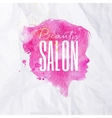Poster Face silhouettes light pink vector image