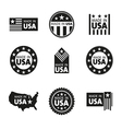 set of made in the USA labels vector image vector image