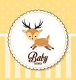 baby shower card invitation cute deer vector image