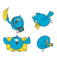 birdies of blue letters vector image