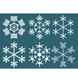 collection of snowflakes vector image