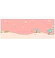 Cute landscape background vector image