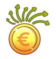 euro icon flat style vector image