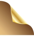 Folded edge of the sheet Gold vector image