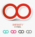 Infinity Symbols Set Isolated on White Background vector image