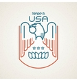Made in the USA Symbol with American flag and vector image