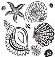 Sea paradise set5 vector image