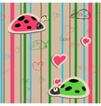 seamless wallpaper with ladybirds vector image