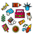 set of bright patches vector image
