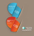 set with elements for business or web design vector image