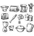 Set of kitchen appliance vector image
