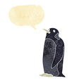cartoon penguin with speech bubble vector image