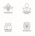 Modern concept of grapes and wine logo vector image
