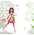 Woman shopping3 vector image