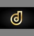 d gold golden letter logo icon design vector image