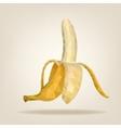 Half peeled triangulated banana vector image