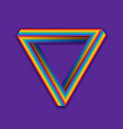 lgbt pride symbol rainbow seamless triangle on a vector image