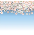 Rain of pink and white cherry blossoms vector image
