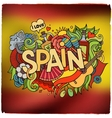 Spain country hand lettering and doodles elements vector image