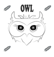T shirt with grey owl and feather vector image