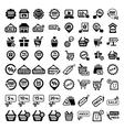 big shopping icons set vector image