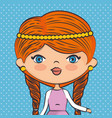 cute half body girl vector image