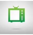 TV sign Green icon vector image