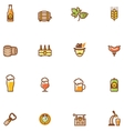 Beer icon set vector image