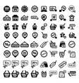 big shopping icons set vector image