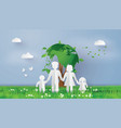 eco concept with family vector image