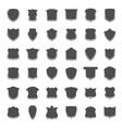 guarantee shield banners big collection vector image