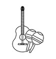 isolated maracas and guitar design vector image
