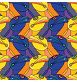 monsters heads pattern vector image